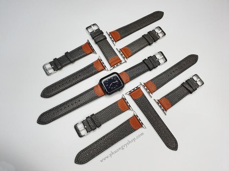 Dây da PU - vân da xám Apple Watch