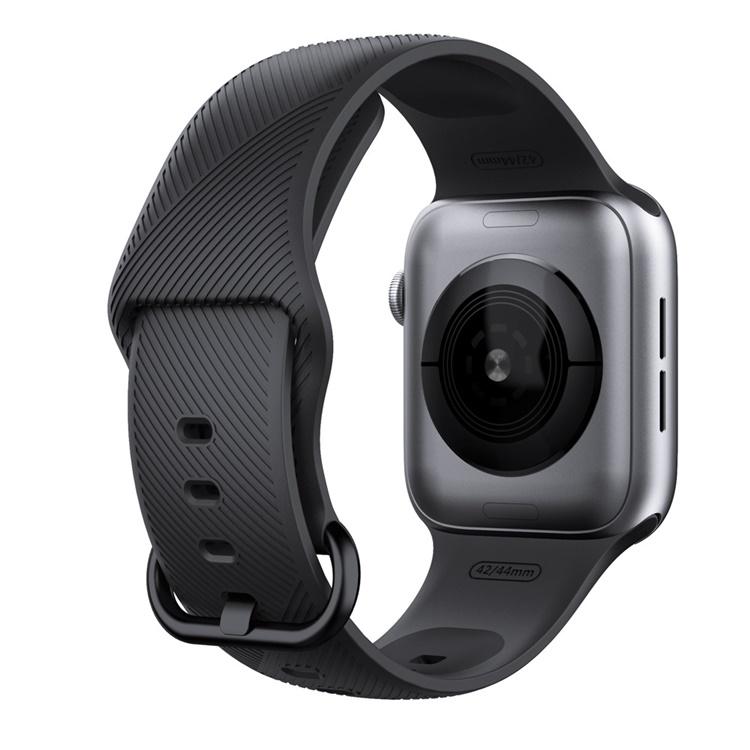 Dây cao su KHÓA XI SỌC CHÉO Apple Watch series