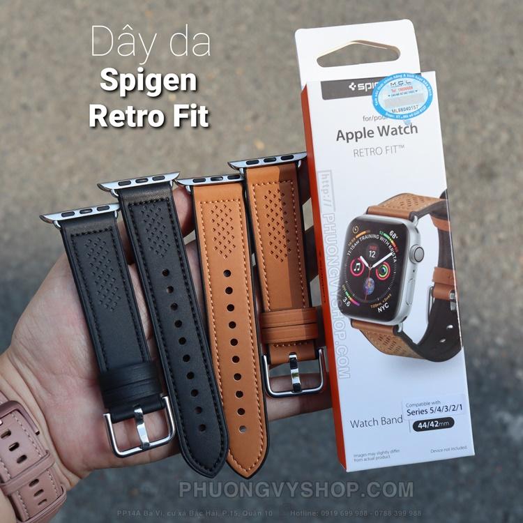 Dây da Spigen Retro Fit chính hãng cho Apple Watch
