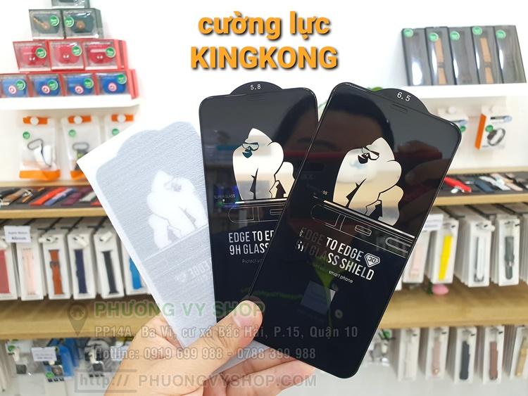 Dán cường lực FULL viền đen KINGKONG iPhone 8 PLus