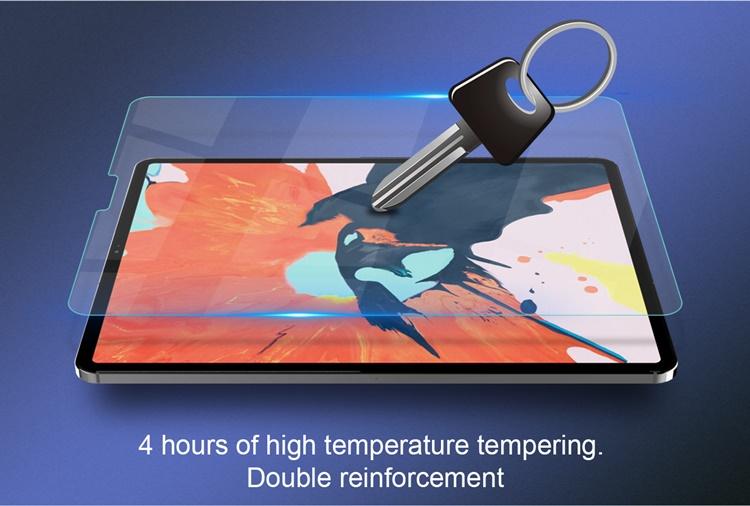 """Dán cường lực iPad 12.9"""" 2020 hiệu Nillkin H+ PRO (khoét tai thỏ)"""