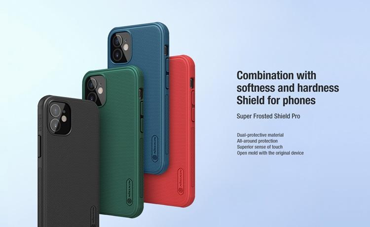 Ốp lưng iPhone 12 mini - Nillkin sần (viền dẻo)