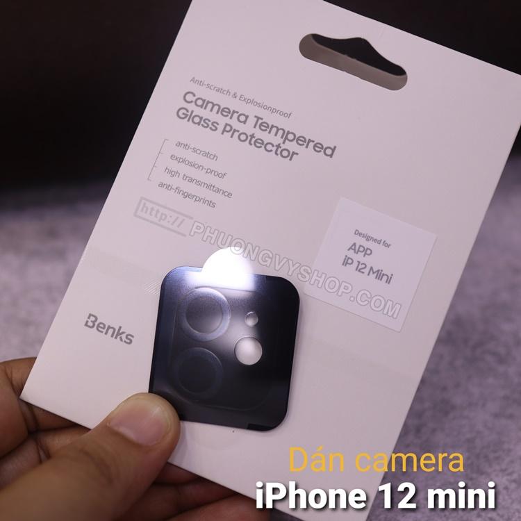 """Dán camera iPhone 12 mini 5.4"""" - hiệu Benks"""
