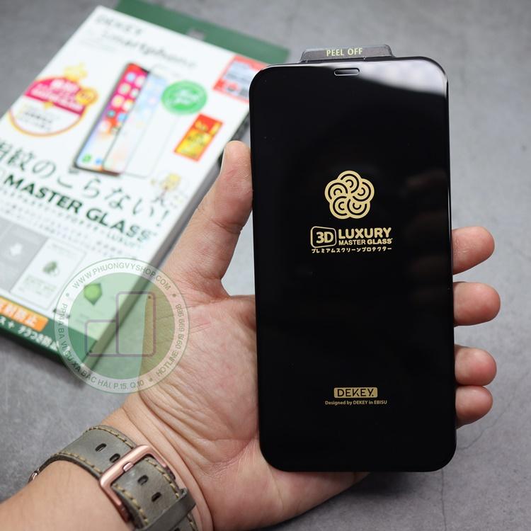 Dán cường lực iPhone 12 mini - Dekey 3D viền đen