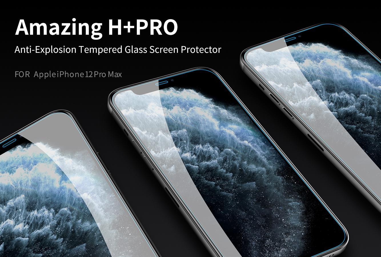 Dán cường lực iPhone 12 ProMax hiệu Nillkin H+ PRO 0.2mm
