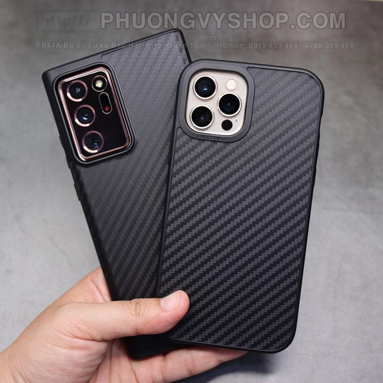 Ốp lưng Rhinoshiel Solid Suit Carbon iPhone 12 ProMax