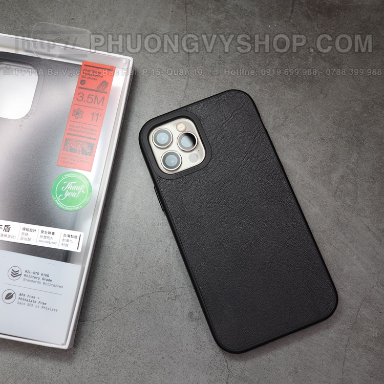 Ốp lưng Rhinoshiel Solid Suit Leather iPhone 12 ProMax