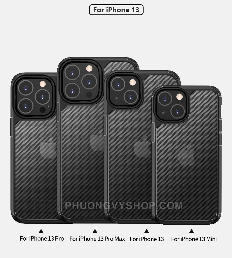 """Ốp chống sốc iPhone 13 Pro 6.1"""" - LIKGUS vân carbon"""