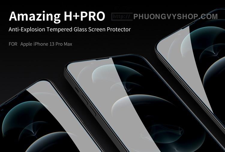 """Dán cường lực iPhone 13 Pro 6.1"""" hiệu Nillkin H+ Pro 0.2mm"""