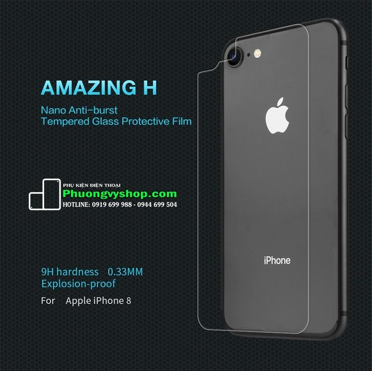 Dán cường lực mặt sau 9H hiệu Nillkin iPhone 8