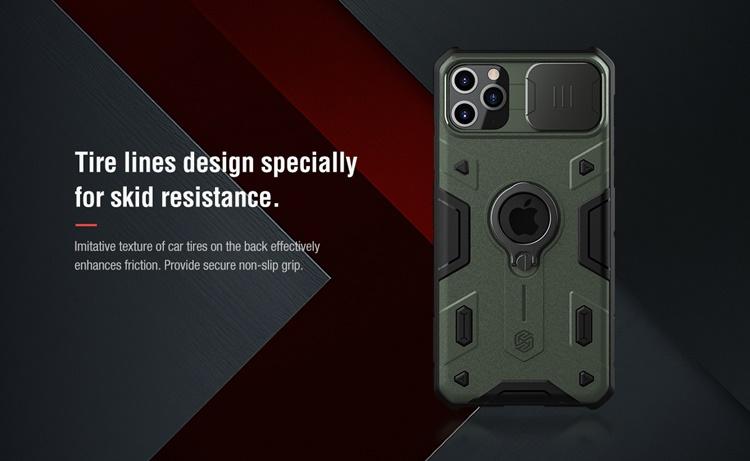 Ốp lưng iPhone ProMax - Nillkin Camshield ARMOR (có iring)