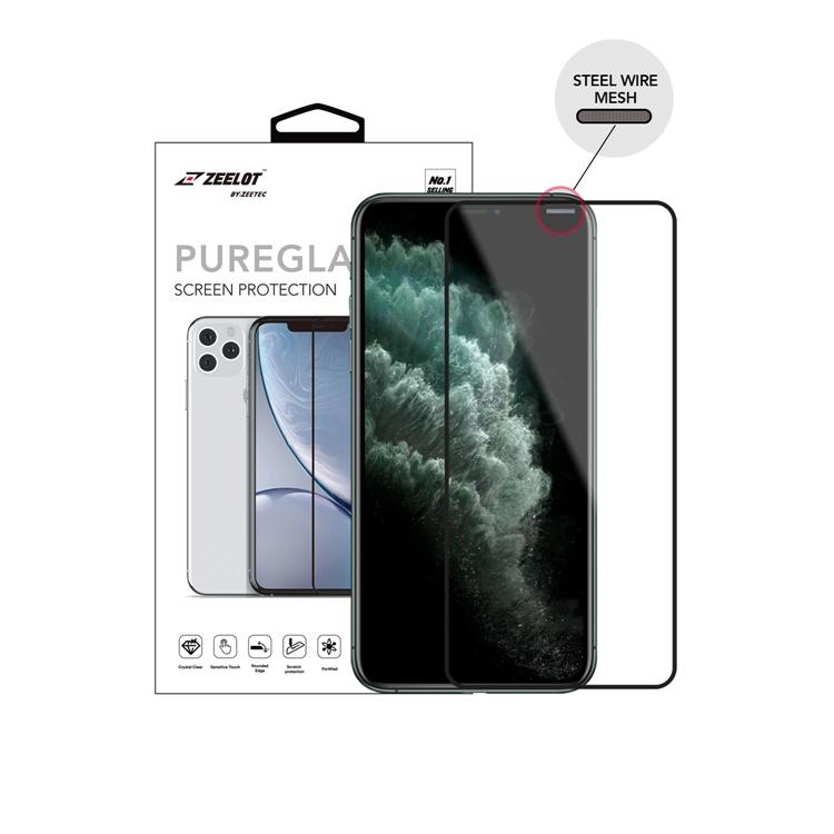 Dán cường lực iPhone ProMax ZeeLot 2.5D trong suốt (Thương hiệu Singapore)