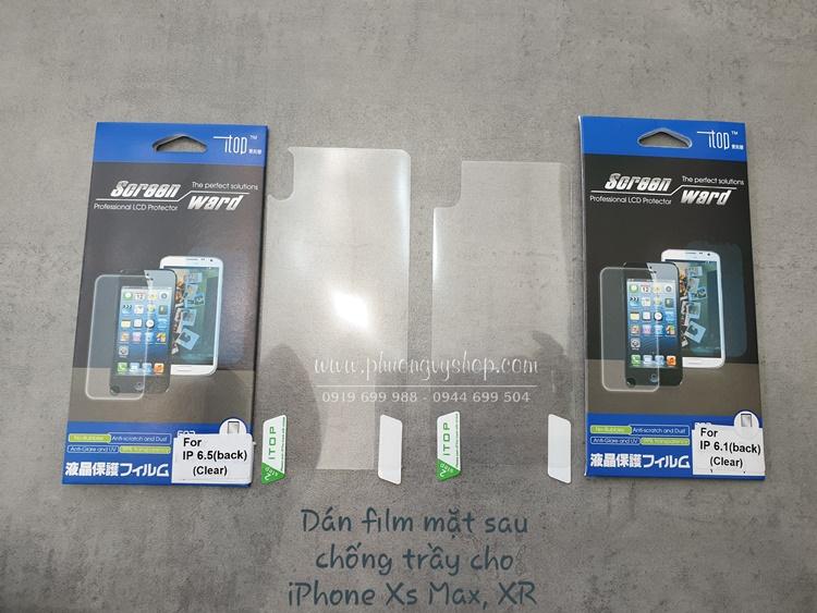 Dán màn hình film iPhone Xs Max (mặt trước hoặc sau)