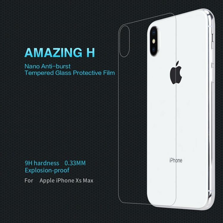 Dán cường lực mặt sau 9H hiệu Nillkin iPhone XS Max