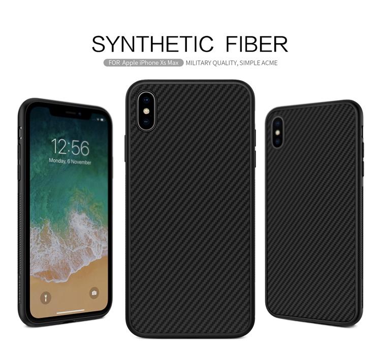 Ốp lưng carbon Nillkin FIBER iPhone Xs Max