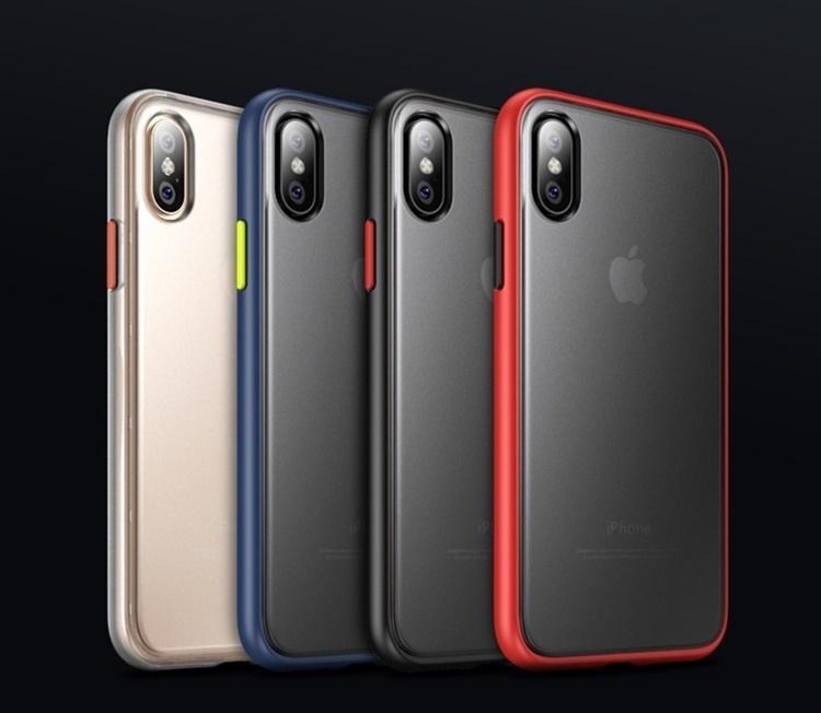 Ốp chống sốc dẻo viền màu iPhone nắp lưng mờ