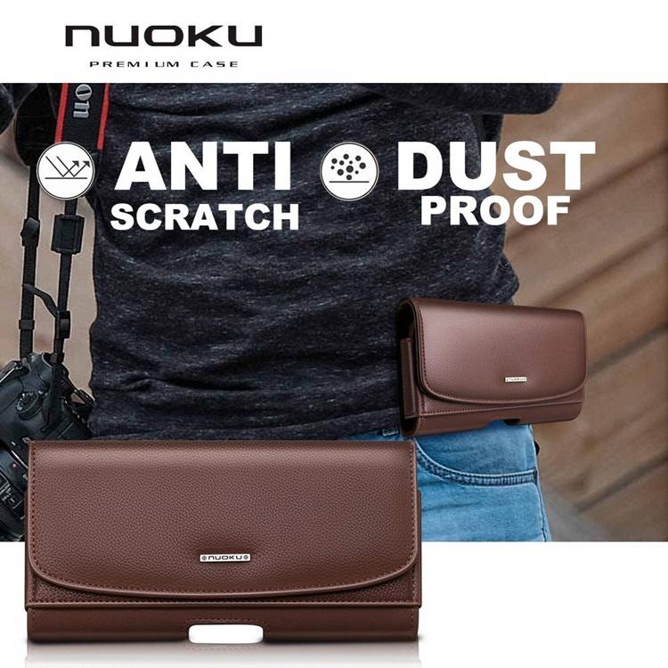 Bao da đeo nịt hiệu Nuoku 2 ngăn mới