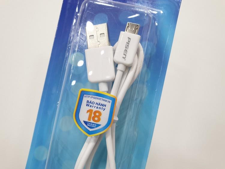 Dây cáp Pisen cổng micro USB (BH18T)