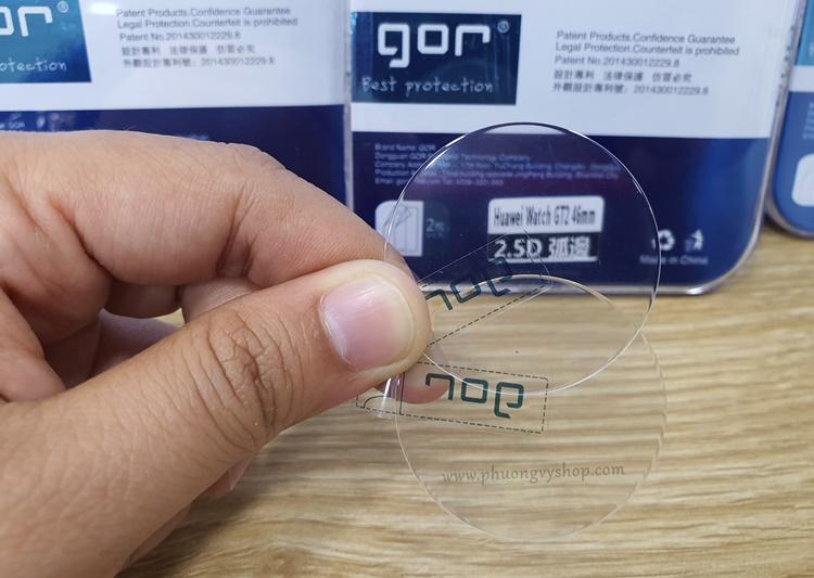 Dán cường lực hiệu GOR cho Huawei Watch GT 2 (combo 2 miếng dán)