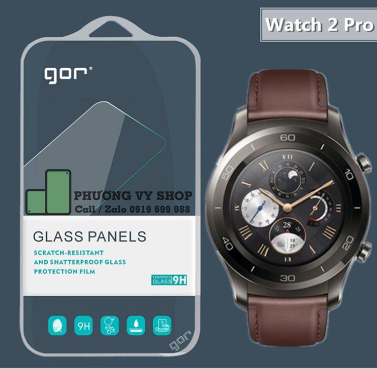 Dán cường lực hiệu GOR cho Huawei Watch 2 Pro (combo 2 miếng dán)