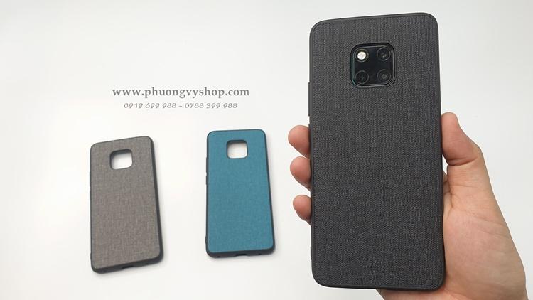 Ốp dẻo vải bố Huawei Mate 20 Pro