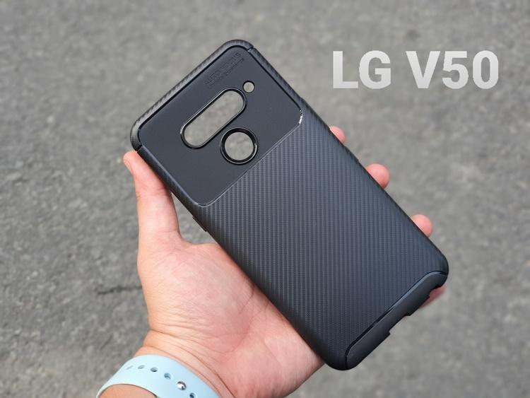 Ốp dẻo carbon LG V50