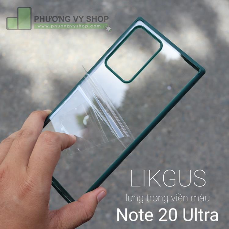 Ốp chống sốc Galaxy Note 20 Ultra - LIKGUS VIỀN MÀU