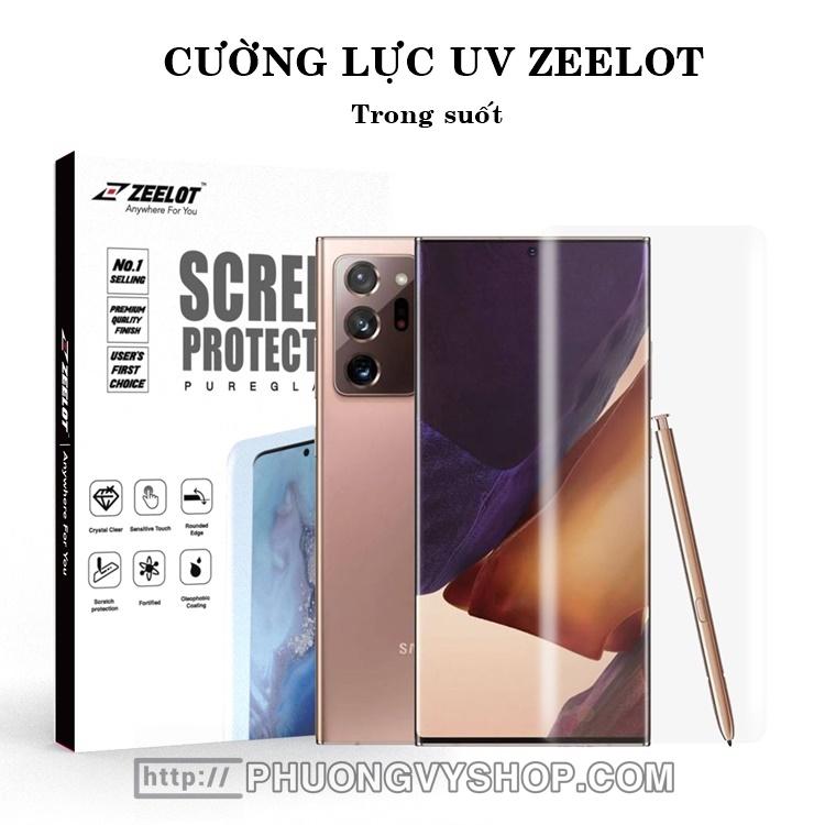 Dán màn hình Galaxy Note 20 Ultra - Kính cường lực keo UV Zeelot