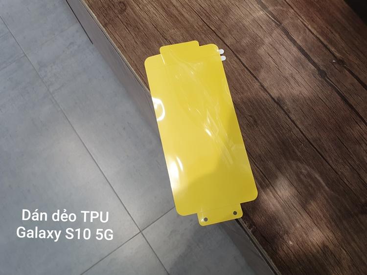 Dán dẻo vàng trong suốt S10 5G (FULL màn hình)