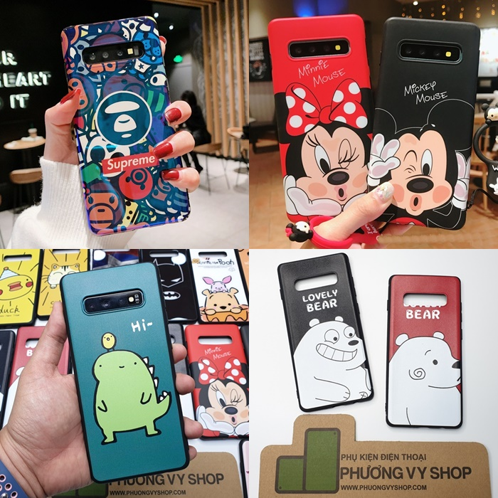 Ốp dẻo CARTOON Galaxy S10 Plus