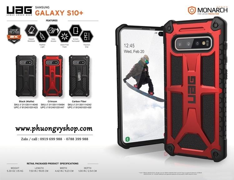 Ốp UAG Monarch Galaxy S10 Plus chống sốc 5 lớp (chính hãng)