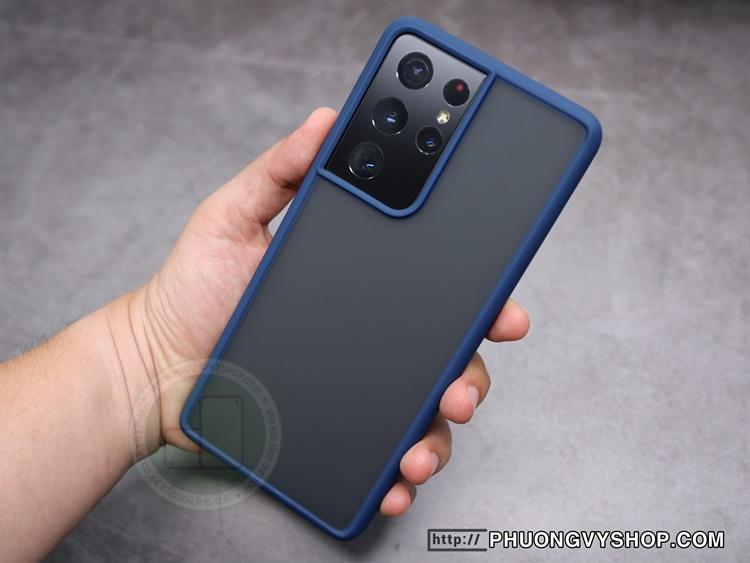 Ốp chống sốc Galaxy S21 Ultra - LIKGUS lưng mờ (No Box)